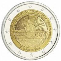 2 €uros Chypre 2017 (UNC Sortie de Rouleau)
