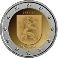 2 €uros Lettonie I 2017 (UNC Sortie de Rouleau)