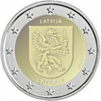 2 €uros Lettonie II 2017 (UNC Sortie de Rouleau)