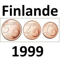 Série Finlande - 1/2/5 Centimes - 1999 UNC sorties de Rouleaux