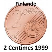 2 Centimes Finlande 1999 - UNC sortie de Rouleau