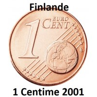 1 Centime Finlande 2001 - UNC Sortie de Rouleau
