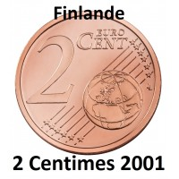 2 Centimes Finlande 2001 - UNC Sortie de Rouleau