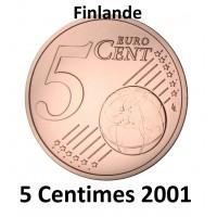 5 Centimes Finlande 2001 - UNC Sortie de Rouleau