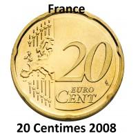 20 Centimes d'Euro France 2008 - UNC Sortie de Coffret BU