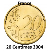 20 Centimes d'Euro France 2004 - UNC Sortie de Coffret BU