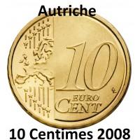 10 Centimes Euro Autriche 2008 - UNC Sortie de Coffret BU