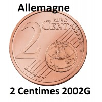 2 Centimes Euro Allemagne 2002G - Neuve Sortie de Rouleau