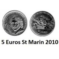 5 Euros Argent St Marin 2010 Caravaggio - Neuve Sortie de Rouleau