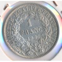 1887A - 1 Franc Ceres - Argent