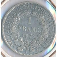 1 Franc Ceres - Argent - 1872A