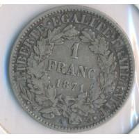 1871A - 1 Franc Ceres - Argent