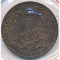 1886A - 5 Centimes Ceres - Bonne Qualité