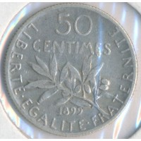 1899 - 50 Centimes Semeuse