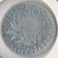 1905 - 50 Centimes Semeuse