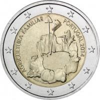 2 €uros Portugal 2014 (L'Agriculture) (UNC Sortie de Rouleau)
