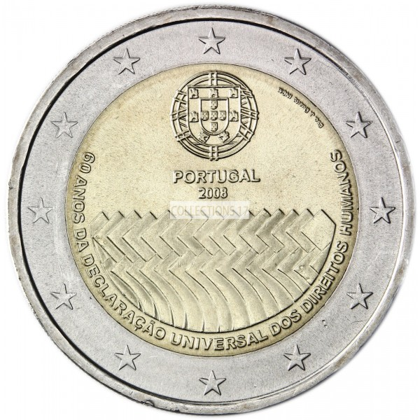 2 €uros Portugal 2008 (UNC Sortie de Rouleau)
