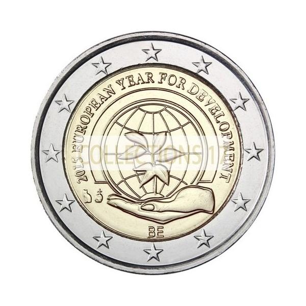 """2 €uros Belgique 2015 """"Notre Monde"""" (livrée en Coin Card)"""