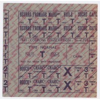 Coupons d'inscription 1943 - Type Normal