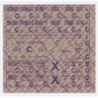 Coupons d'inscription 1943 - Type Normal ''C''