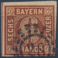 Allemagne Bavière - numéro 3 - Oblitéré