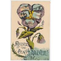 CPA - (78) Argenteuil, Recevez une pensée d'Argenteuil