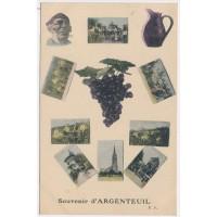 CPA - (78) Argenteuil, Souvenir d'Argenteuil P.F