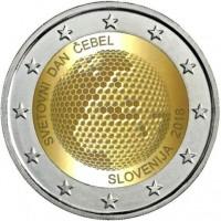 2 Euros Slovénie 2018 - Journée Mondiale des Abeilles (neuve sortie de rouleau)