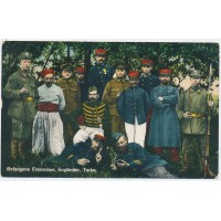 Carte Postale Ancienne - Prisonniers Français Anglais Turk