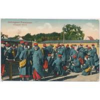 Carte Postale Ancienne - Prisonniers Français 1914-15