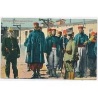 Carte Postale Ancienne - Prisonniers Sénégalais 1914-15