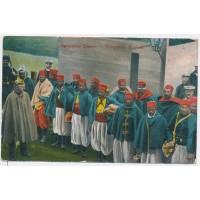 Carte Postale Ancienne - Prisonniers Zouave 1914-15