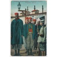Carte Postale Ancienne - Prisonniers Sénégalais & Français 1914-15