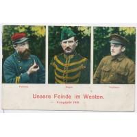 Carte Postale Ancienne - Ennemies de l'Ouest 1915