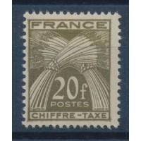 France - Taxe 77 - Neuf avec Charnière