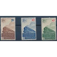 France - Colis Postal 208 à 210 - Neuf avec Charnière