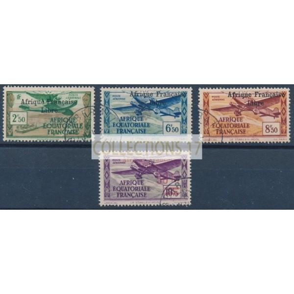 Colonie France AEF - Poste aerienne 15-18-19-21 - Oblitéré