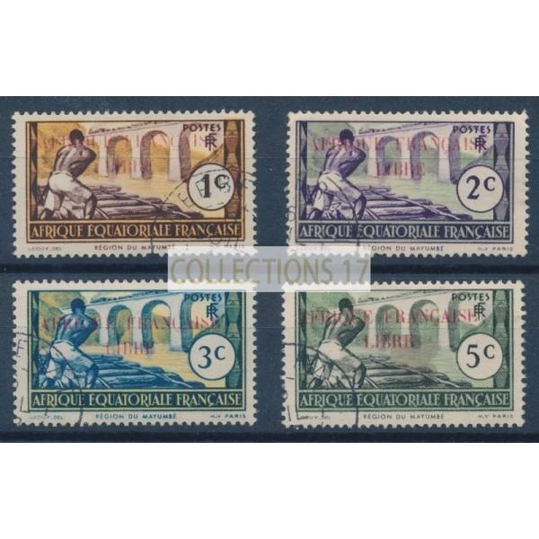 Colonie France AEF - Numéro 92 à 95 - Oblitéré