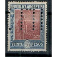Timbres d'Argentine - Numéro 192 - Neuf sans gomme - Perforé