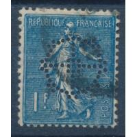 France Perforé Banque de Mulhouse Paris - Numéro 205 - Oblitéré