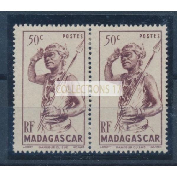Madagascar - Numéro 303 Variété Médaille - Neuf avec charnière