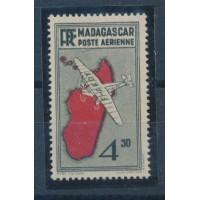 Madagascar - Poste Aérienne 7 Variété - Neuf avec charnière