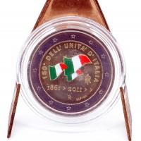 2 Euros Italie 2011 - Colorisé