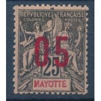 Mayotte - Numéro Espacé 25 - Neuf avec charnière
