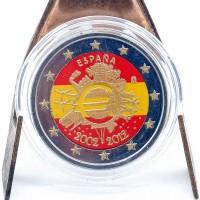 2 Euros Espagne 2012 - Colorisé Neuf