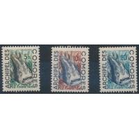Comores - Taxe 3 à 5 - Neuf avec charnière