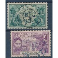 Dahomey - Numéro 99 à 100 - Oblitéré