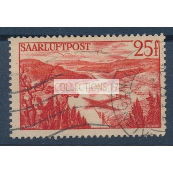 Sarre - Poste Aérienne 9 - Oblitéré