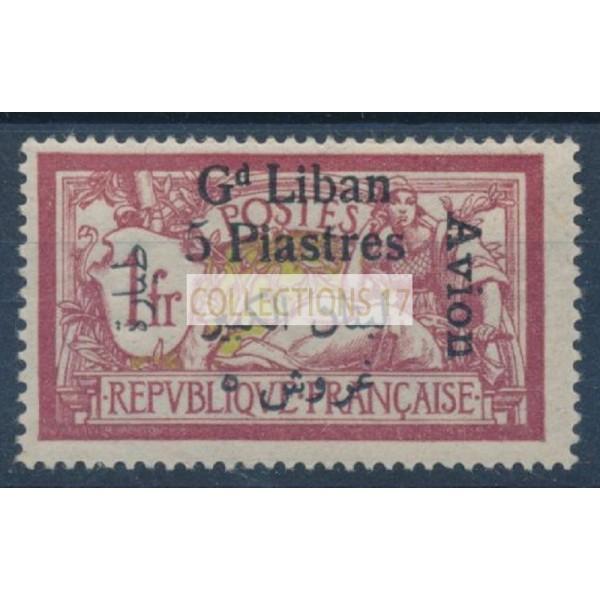 Grand Liban - Poste Aérienne 7 - Neuf avec charnière