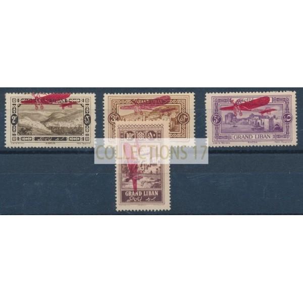 Grand Liban - Poste Aérienne 13 à 16 - Neuf avec charnière